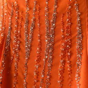 RIVA Design Orange strapless Maxi dress
